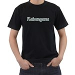 Kahungunu with Paua Design Black T-Shirt