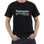 Kahungunu ki Heretaunga Paua Design Black T-Shirt
