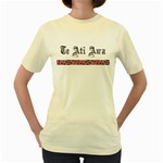 Te Ati Awa Design Women's Yellow T-Shirt