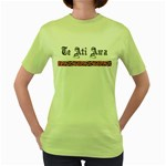 Te Ati Awa Design Women's Green T-Shirt