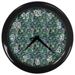 Paua Design Wall Clock (Black)