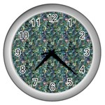 Paua Design Wall Clock (Silver)
