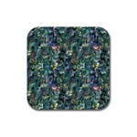 Paua Rubber Square Coaster (4 pack)