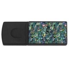 Paua USB Flash Drive Rectangular (2 GB) from Maori Creations Front