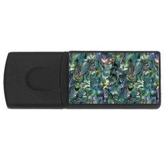 Paua USB Flash Drive Rectangular (1 GB) from Maori Creations Front