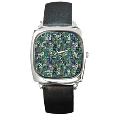 Paua Square Metal Watch from Maori Creations Front