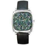 Paua Square Metal Watch