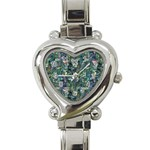 Paua Heart Italian Charm Watch