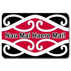 Nau Mai Haere Mai Large Doormat from Maori Creations 30 x20 Door Mat - 1