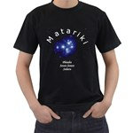 Matariki Names Black T-Shirt