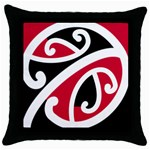 Kowhai Ngutukaka Throw Pillow Case (Black)