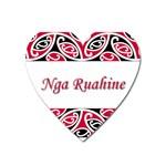 Nga Ruahine Magnet (Heart)
