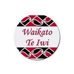 Waikato Te Iwi Rubber Round Coaster (4 pack)