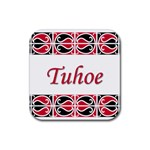 Tuhoe Rubber Square Coaster (4 pack)