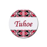 Tuhoe Rubber Round Coaster (4 pack)