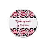 Kahungunu Ki Wairoa Rubber Round Coaster (4 pack)