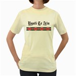 Ngati Te Ata with Patiki Design Women's Yellow T-Shirt