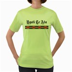 Ngati Te Ata with Patiki Design Women's Green T-Shirt