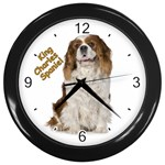 English Toy Spaniel Wall Clock (Black)