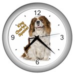 English Toy Spaniel Wall Clock (Silver)