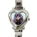 English Toy Spaniel Heart Italian Charm Watch