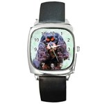 English Toy Spaniel Square Metal Watch