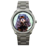 English Toy Spaniel Sport Metal Watch
