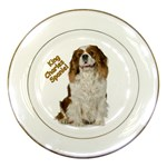 English Toy Spaniel Porcelain Plate