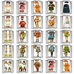Paper Dolls 9mm Italian Charm (25 pack)
