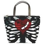 Rib Cage Heart Bucket Bag