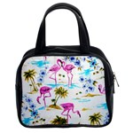 Pink Flamingos Classic Handbag (Two Sides) from Manda s Macabre Front