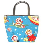 Vintage Kids In Space Bucket Bag