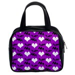 Bats & Hearts  Classic Handbag (Two Sides)