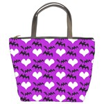 Bats & Hearts  Bucket Bag