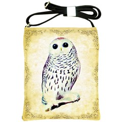 Snow Owl Shoulder Sling Bag from Manda s Macabre Front