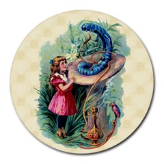 Vintage Alice In Wonderland Round Mousepad from Manda s Macabre Front