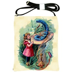 Vintage Alice In Wonderland Shoulder Sling Bag from Manda s Macabre Front