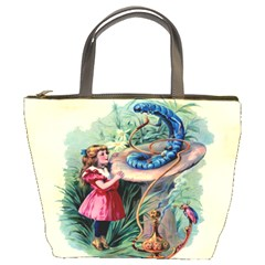 Vintage Alice In Wonderland Bucket Bag from Manda s Macabre Front