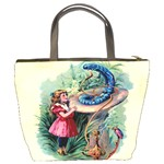 Vintage Alice In Wonderland Bucket Bag from Manda s Macabre Back