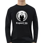 Anonymous Long Sleeve Dark T-Shirt