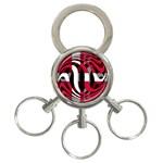 Denmark 3-Ring Key Chain