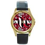 Denmark Round Gold Metal Watch