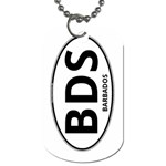 BDS - Barbados Euro Oval Dog Tag (One Side)