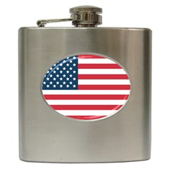Flag Hip Flask by tammystotesandtreasures