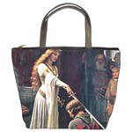 Accolade by Edmund Blair Leighton Bucket Bag