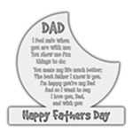 Happy fathers Day Plaque - 8 x8  Transparent Acrylic Cutout