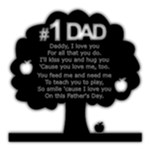 Number one Dad - Poem Tree - 8 x8  Black Acrylic Cutout