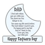 Happy fathers Day Plaque -  8 x8  White Acrylic Cutout