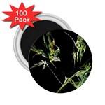 Floating Leaf Fractal On Black 2.25  Magnet (100 pack)