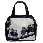 Screech Owl Babies Classic Handbag (Two Sides)